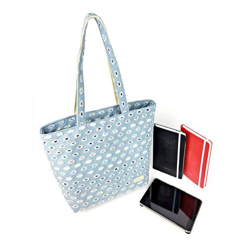 Denim Shopper Bag+