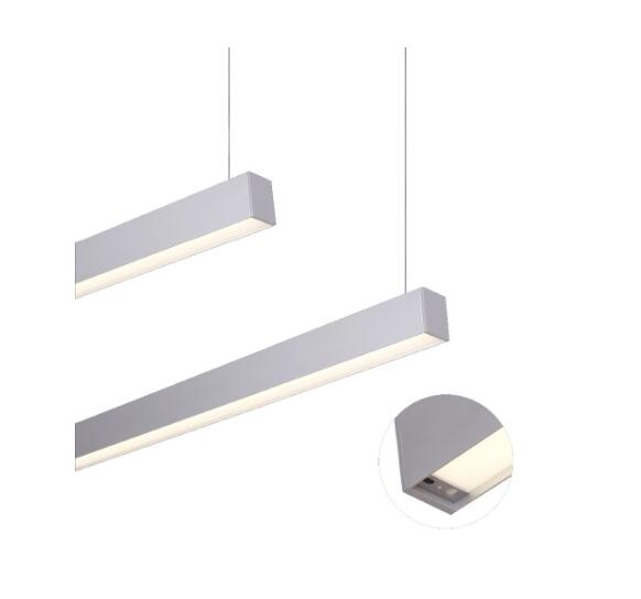 IP20 LED pendant lighting led linear light in quality extruded aluminum alloy low luminous decay
