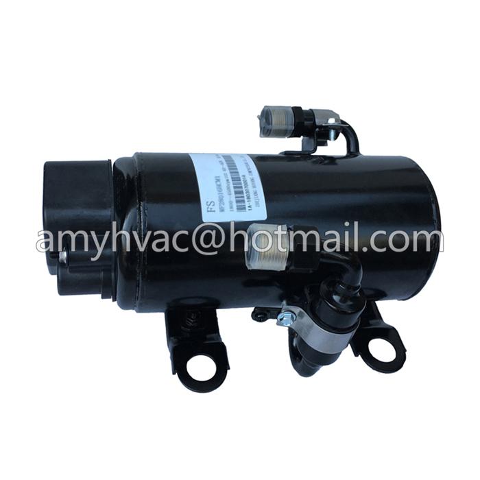 24v dc sleeper cab air conditioner horizontal ac compressor