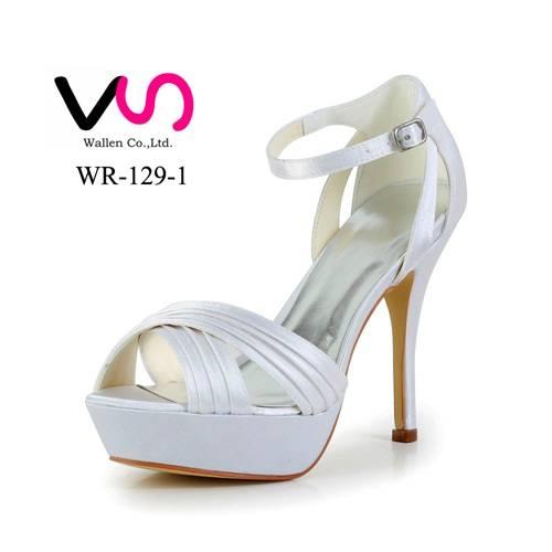 Sexy super high heel ivory bridal wedding shoes