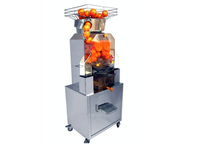 Commercial Fresh Squeezed Orange Juice Machine For Cafes / Juice Bars With Cabinet