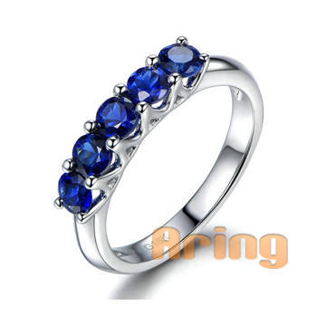 Wholesale 18k Gold Jewelry Natural Sapphire Rings