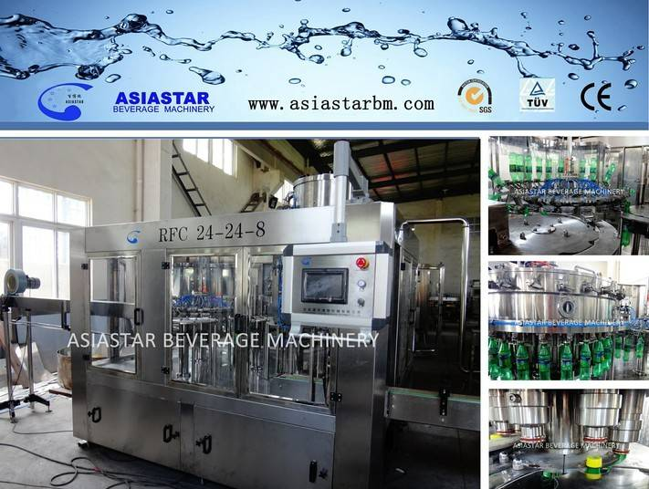 24-24-8 3 in 1carbonated drink bottling machine