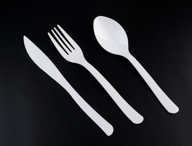 PLA Biodegradable Disposable Economic Plastic Knife&Fork&Spoon