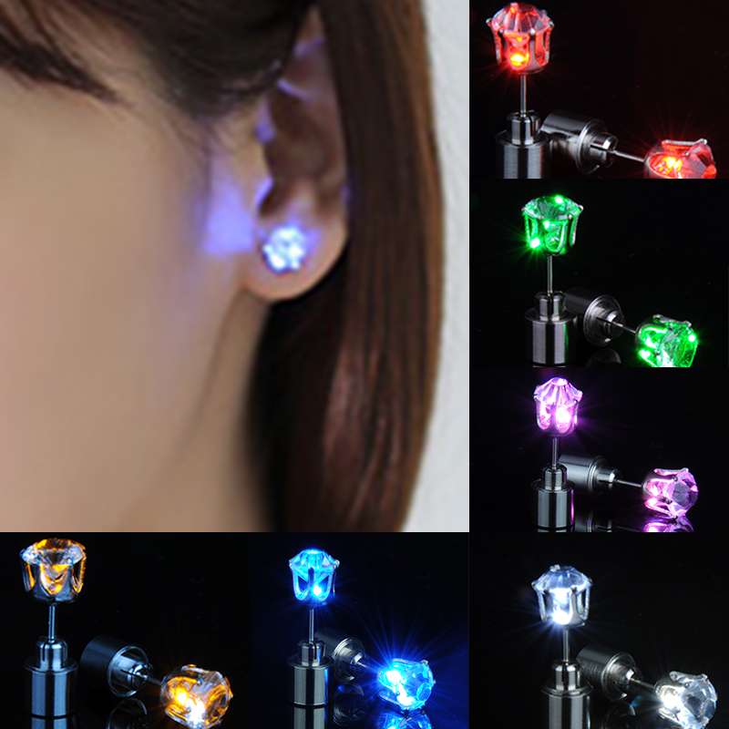 Christmas Gift LED Stud Flash Earrings Hairpins Strobe LED Earring Lights Strobe LED Earrings