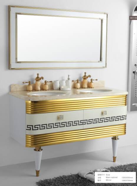 stainless steel bathroom cabinet/shower panel