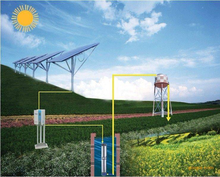 solar submersible water pump circulation solar system water well pump