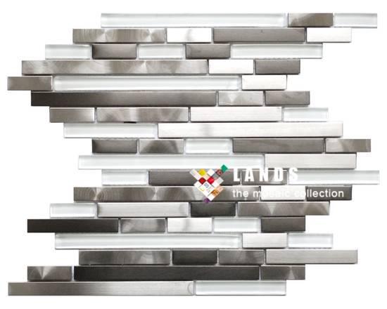 Stainless Steel Metal Mosaic Tiles, Metal Wall and Floor Tiles, Lsmt029.