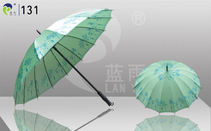 Straight Lady Umbrella with Metal Shaft