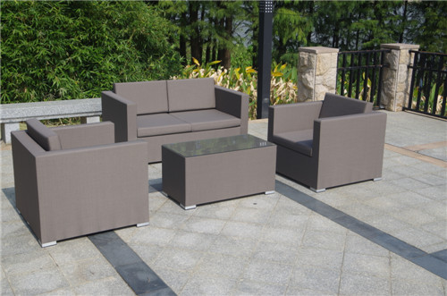 Texitilene fabric sofa set sling patio garden furnture