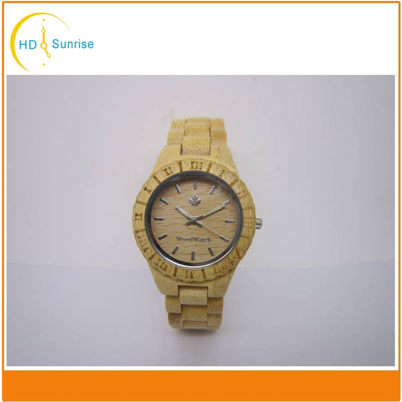 New Arrival Mens Luxury Custom Logo Bamboo Wooden Watches