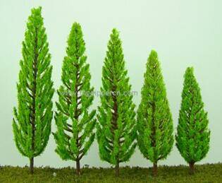 man made model tree wit different sizes