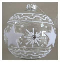 Clear glass christmas ball