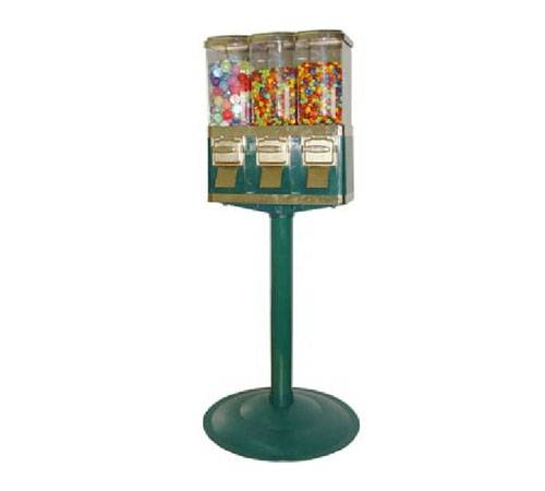 Triple container capsule vending machine