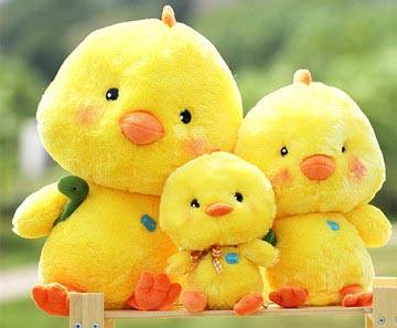Lovely Plush Yellow Chicken Toys Promotion