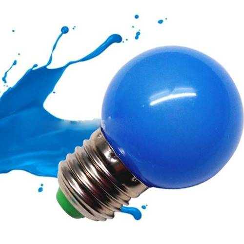 Factory price E27 G45 RGB 220V 1W Color LED Bulb