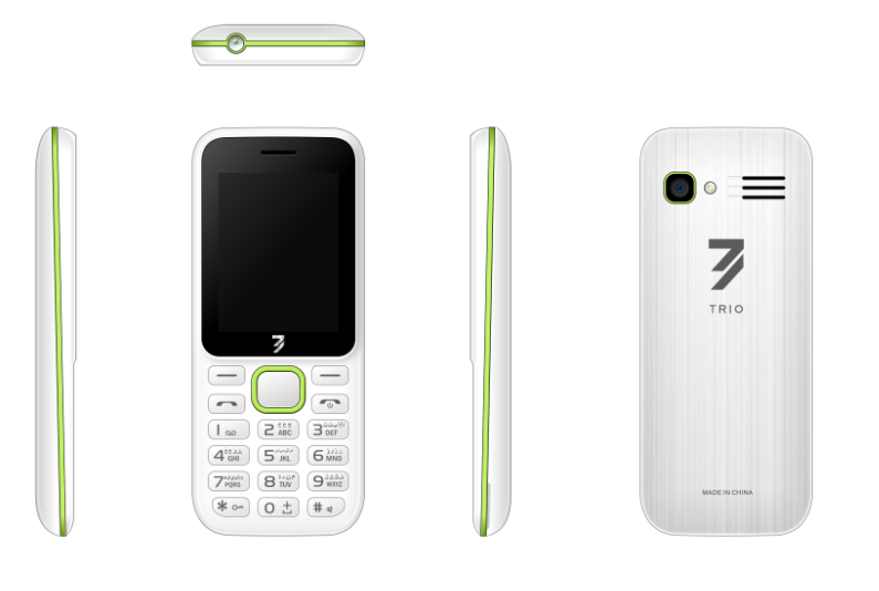 2.4inch feature phone 2G phone with 0.08MP Camera and SC6531DA Chipset 1000mAh battery