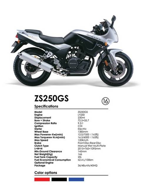 250CC Motorcycle Sreet Sport Bike Zongshen Motorcycle 4