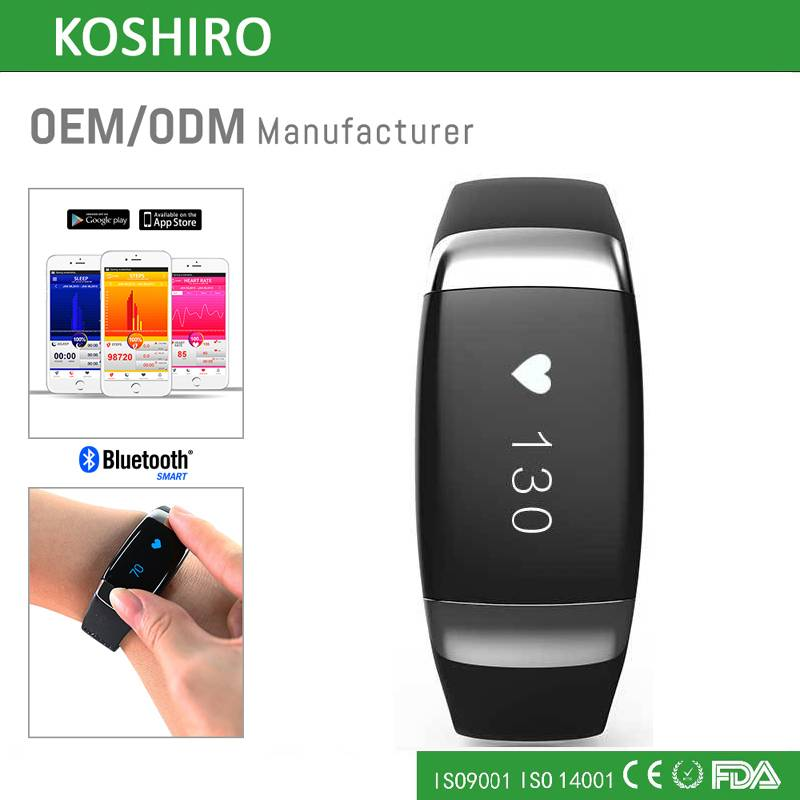 OLED Touch Screen Smart Bluetooth Heart Rate Monitor Wrist Watch