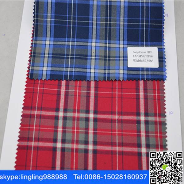 stocklot cotton yarn dyed flannel fabric