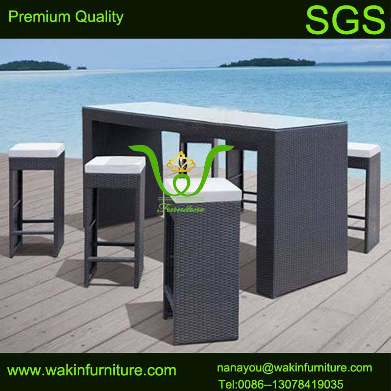 outdoor bar stool rattan bar furniture