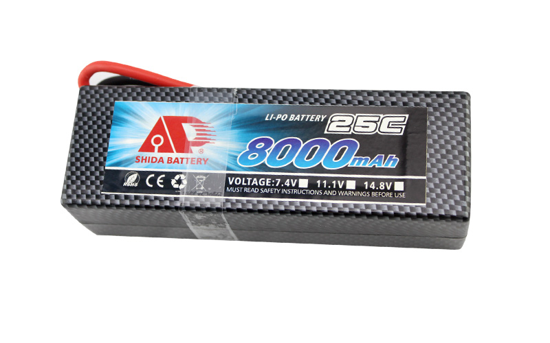 8000mAh 25C rechargeable battery for RC Car
