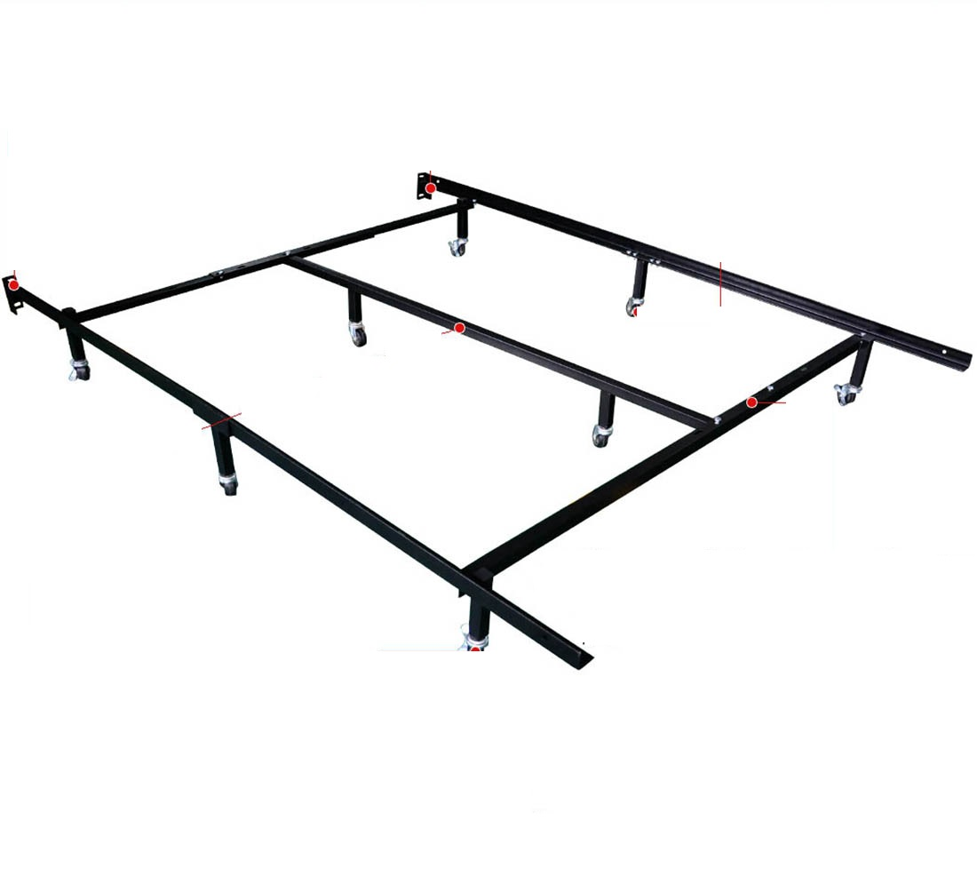 twin full queen bed frame with wheels