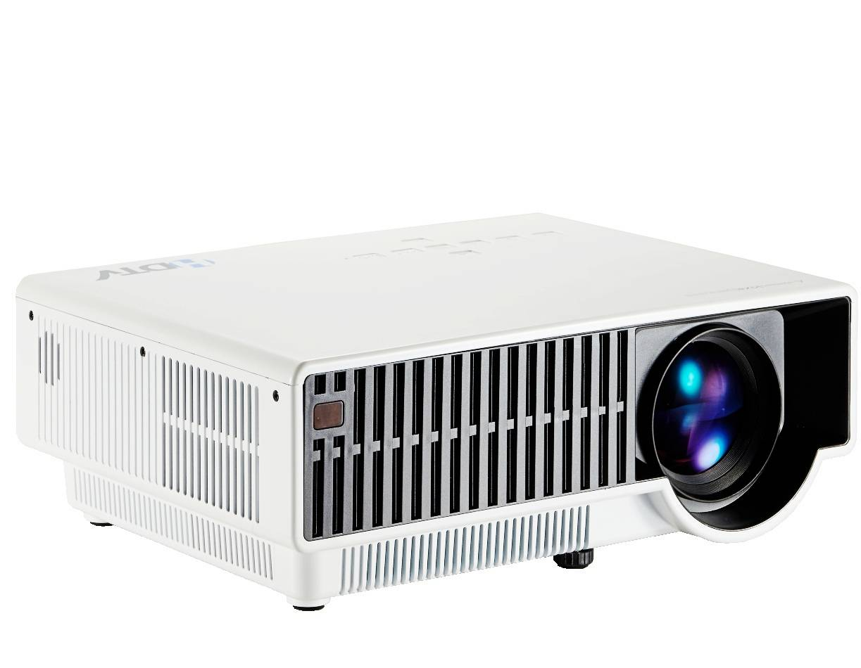 Full HD 1080P Digital TV Projector with 2500 Lumens & LED Lamp & USB & HDMI for Home theater & Game