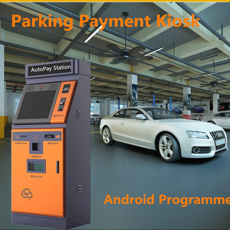 TCP/IP Android Programme Parking Payment Kiosk With Cash And Coin Acceptor