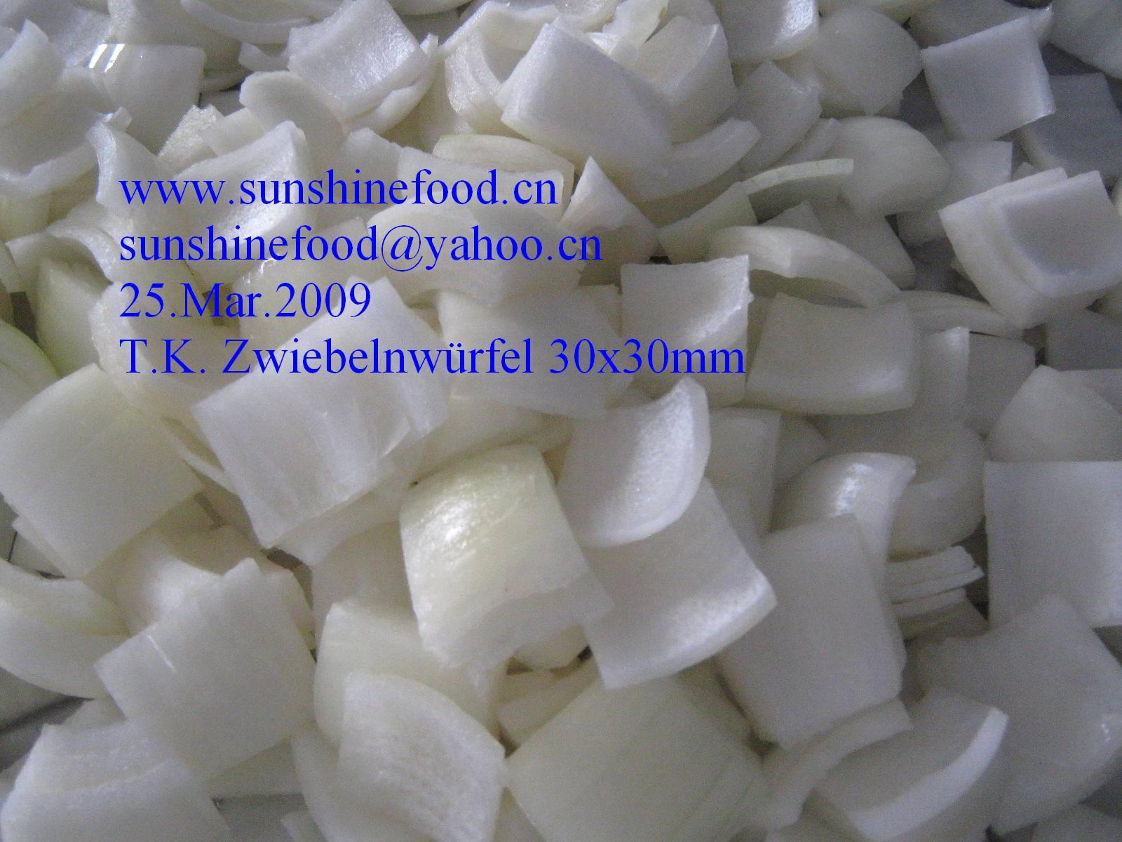IQF Onion dice 30x30mm