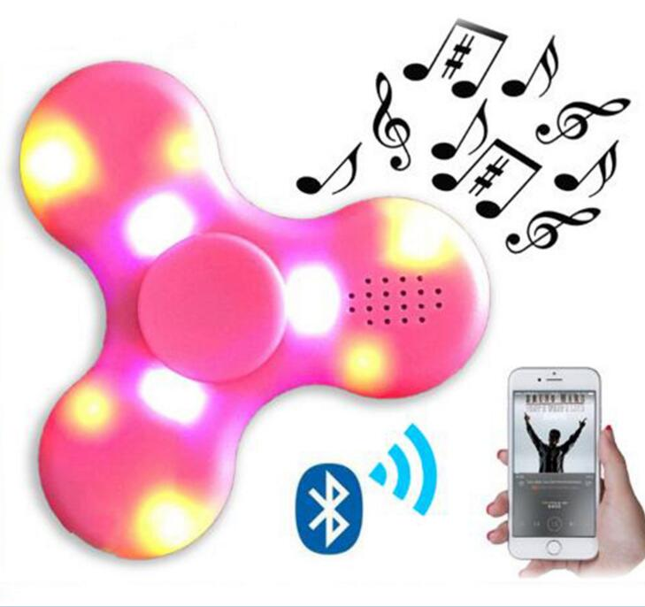 Led fidget toy focus hand spinner toy bluetooth speaker hand Spinner for Reduce pressure