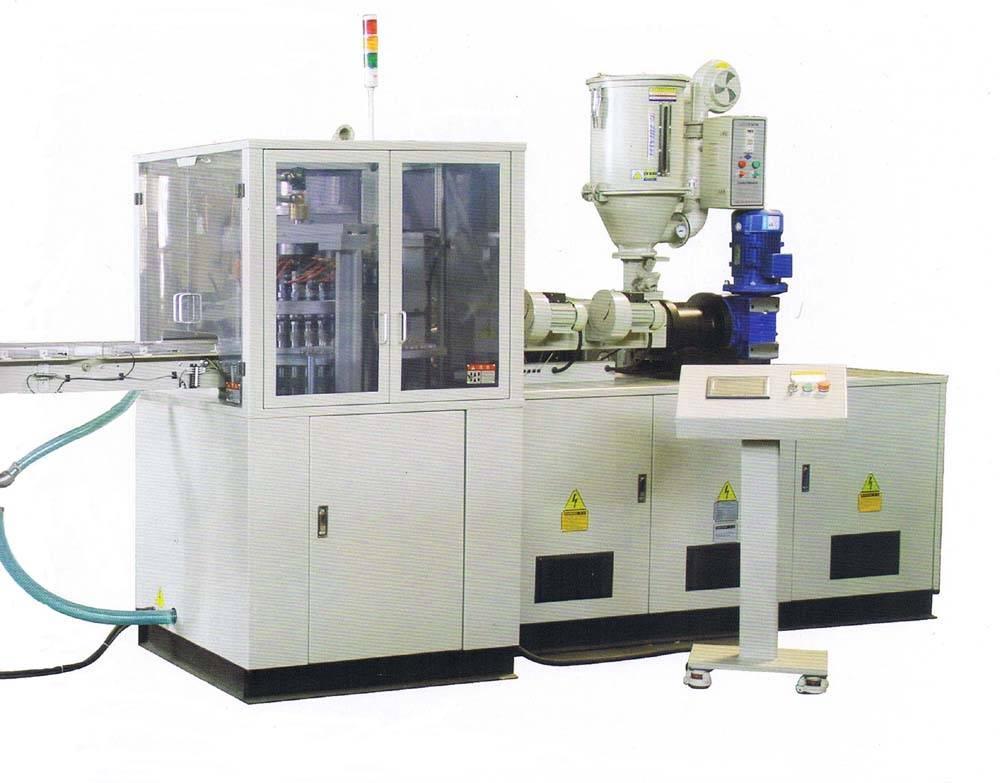 compression molding machine for plastic caps