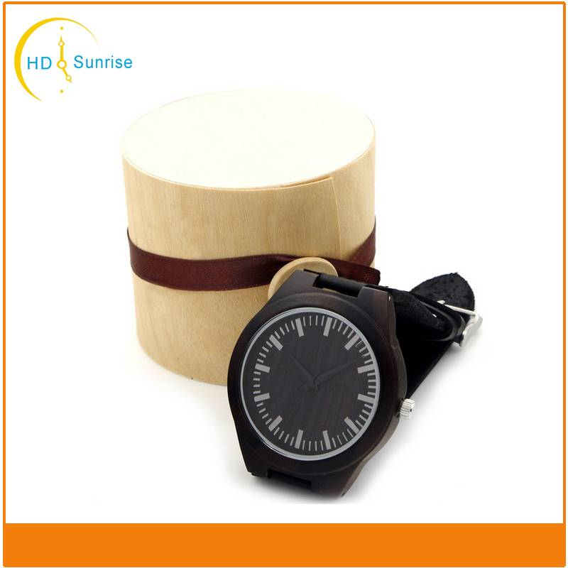 Hot Causal Wooden Watches Hand Made Japan Movt Quartz Bamboo Sandalwood Wood Watch