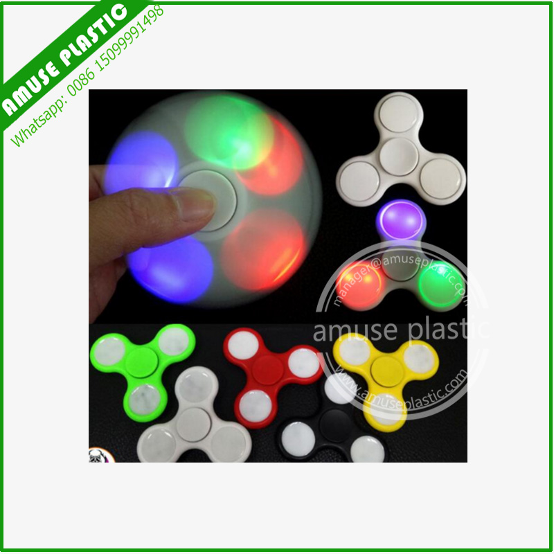 Light up Hand Spinner Fidget Toy Metal