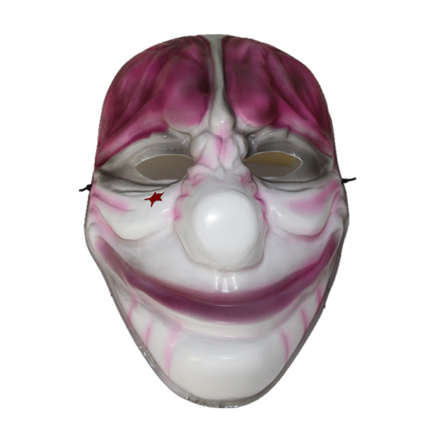 X-MERRY TOY Plastic Mask New Fashion Halloween Horrible Funny Clown Mask