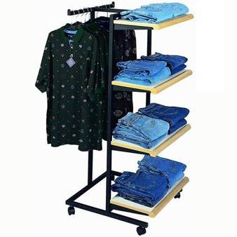 Metal clothing display stand