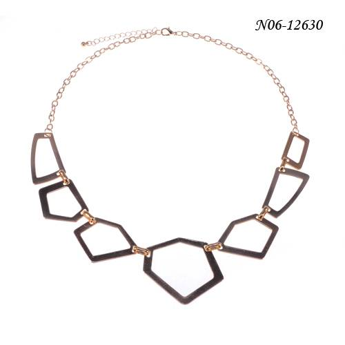 Fashion gold special shape alloy pendant necklace