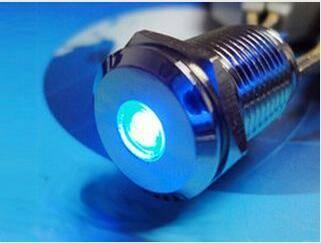 Waterproof Sealed LED Len Lighted Illuminated Anti-vandal Metal Indicator