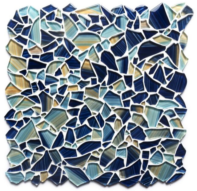 Pebble hand-painted glass tiles