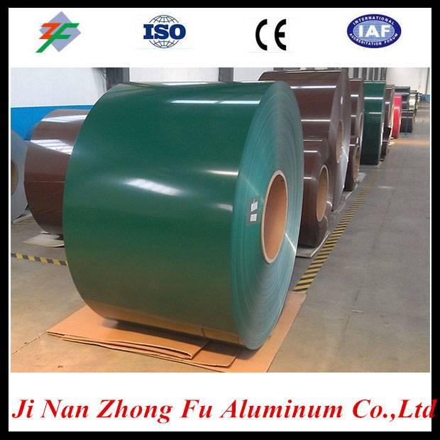 Pre-painted aluminum coil for aluminum insulated polyurethane foam roller shutter profiles