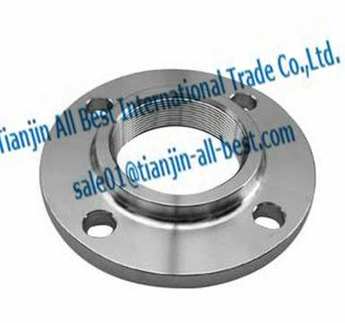 Forged carbon threaded flanges