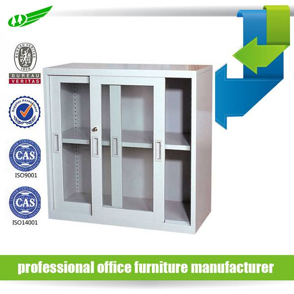 home office furniture small glass door book file cabinet