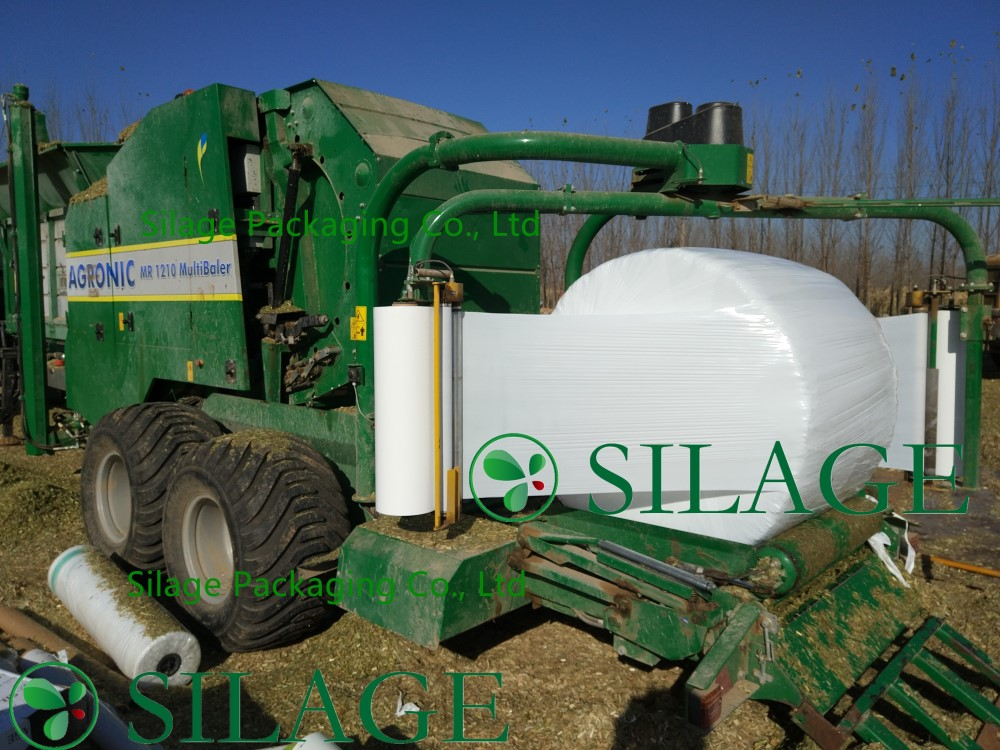 750mm1500m White Color Silage Wrap Film