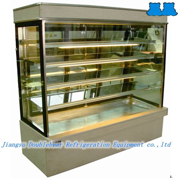 Upright five layers back sliding door cake showcase