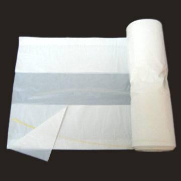 HDPE White C Fold Roll pack Plastic Garbage Bag/Trash bag/Rubbish bag/Refused sack