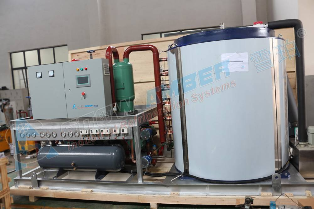 Industrial 20Ton Factory Ice Flake ice machine/ ice making machine for Fish for cooling with Shangha