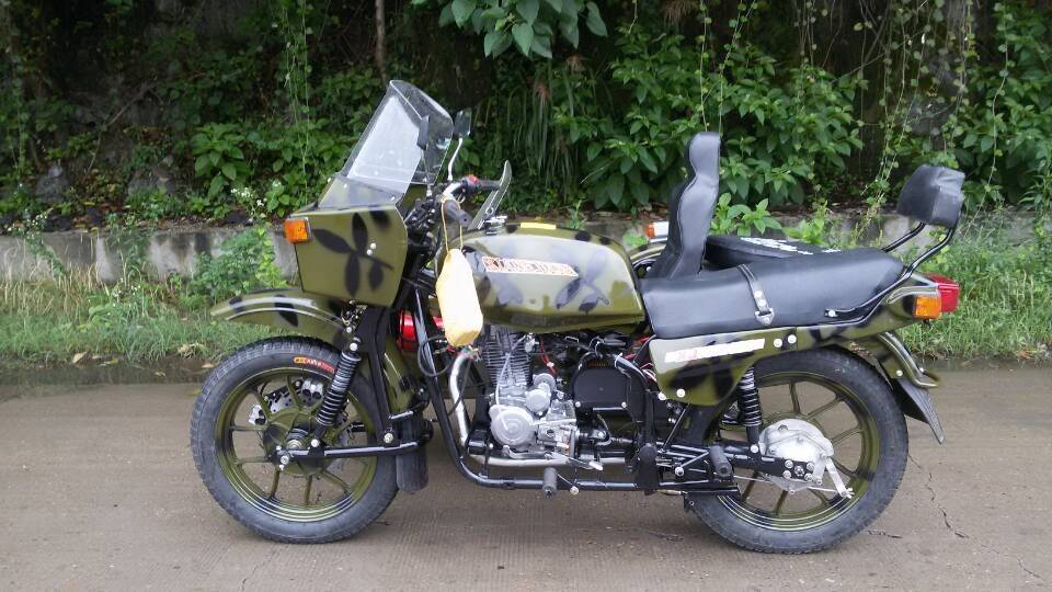 XJ 250cc Motorcycle with sidecar