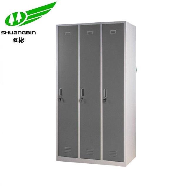 Metal 3 door clothes cabinet employee locker