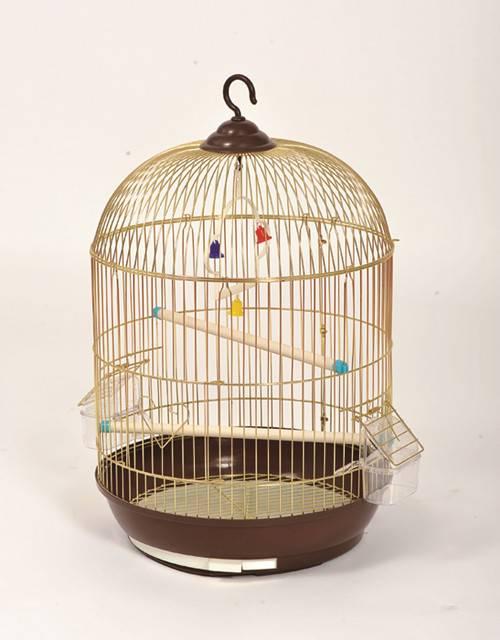 C301-G Golden Round bird cage