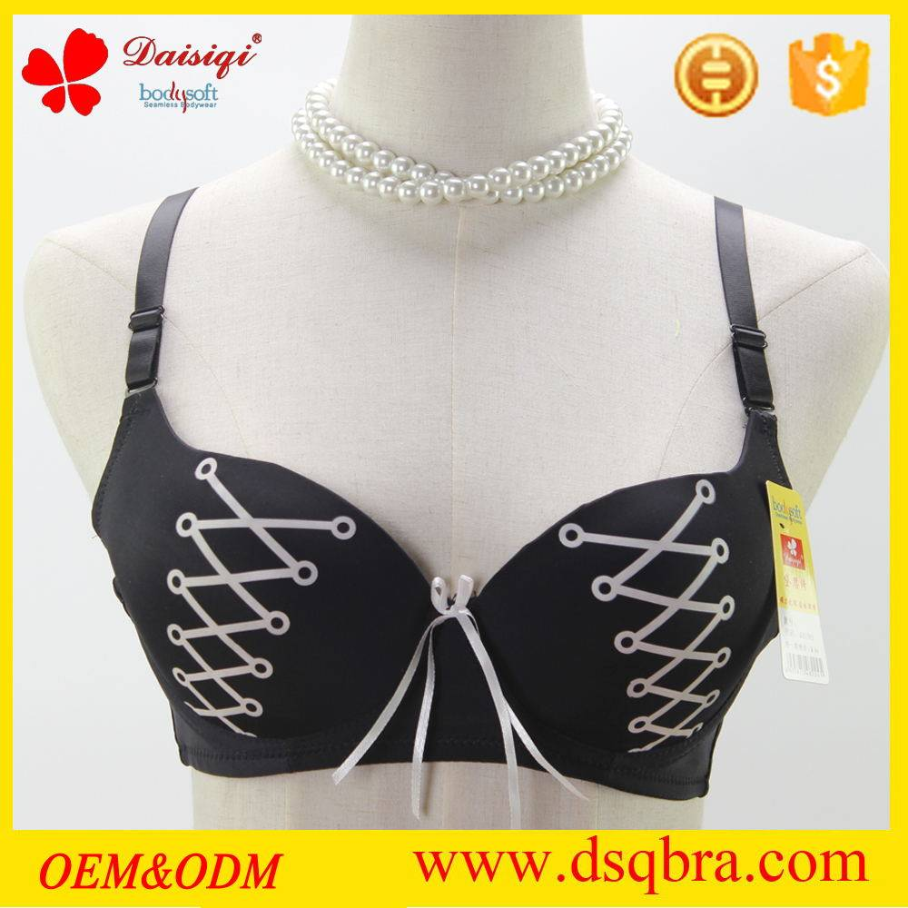 Massage cup bra sexy ladies bra with special pattern design